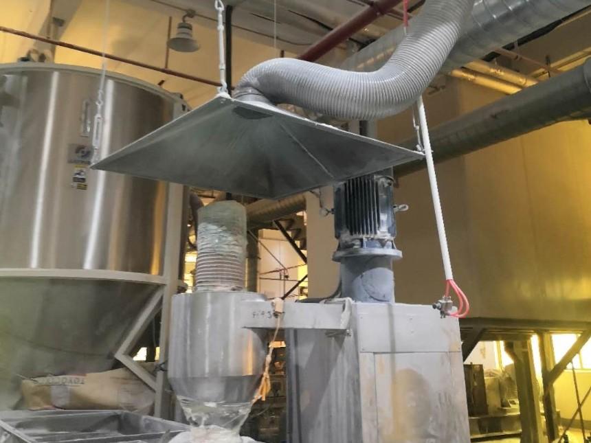 塑料搅拌机台粉尘环保收集系统