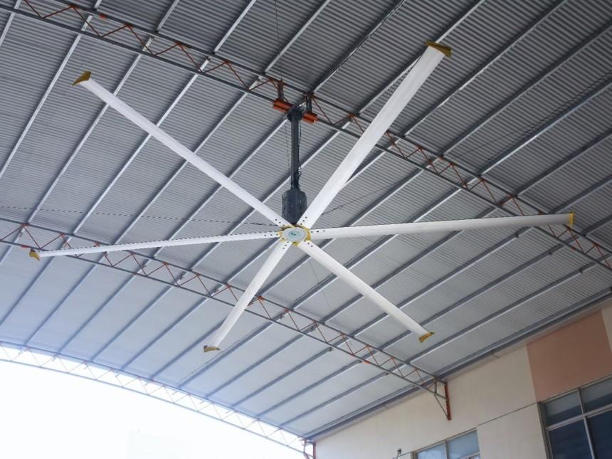 工厂车间工业大吊扇的安装有没针对建筑空间安装条件有哪些需要注意的呢 ?