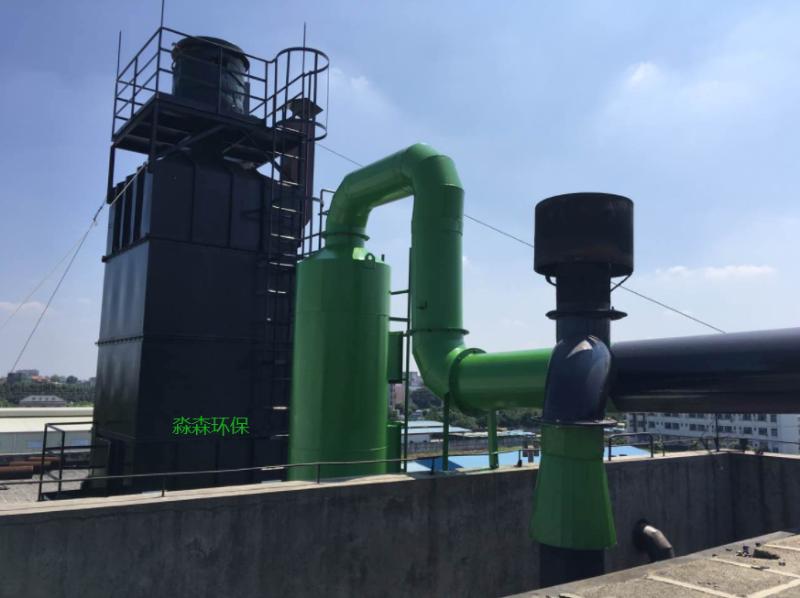喷淋塔+湿式静电除尘器1