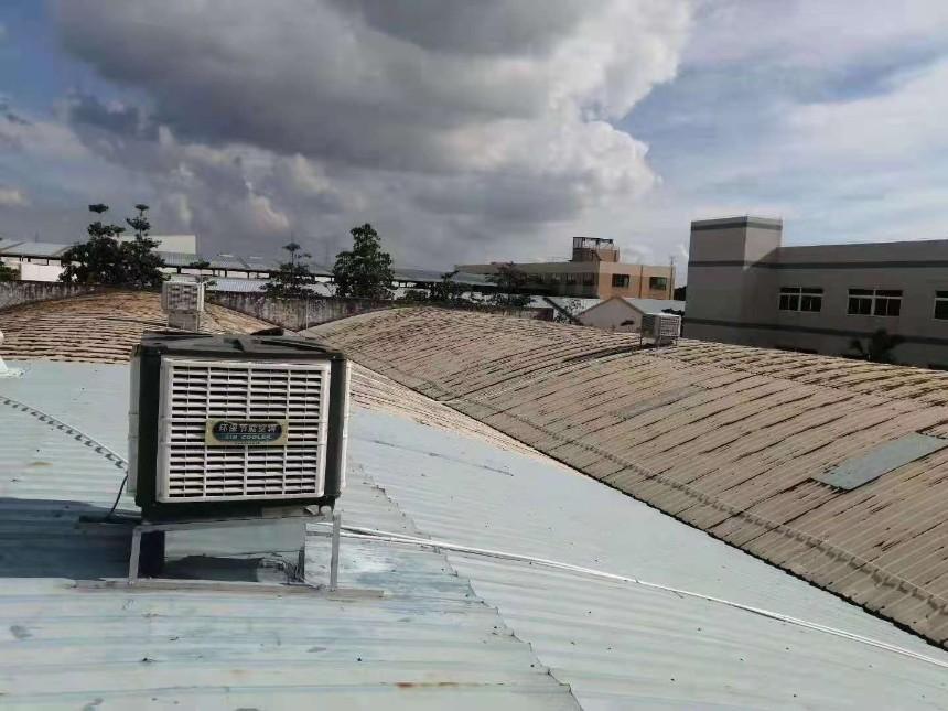 铁皮厂房生产车间冷风机降温方案之一--环保空调(冷风机)